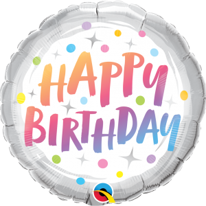 Globo White Pastel Birthday