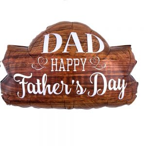 Globo Happy Father's Day Wood Marquee