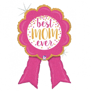 Globo Grande Best Mom Ribbon