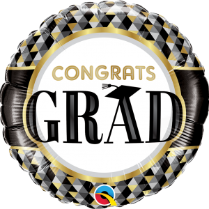 Globo Congrats Grad Black Stripe