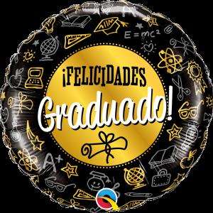 Globo Felicidades Graduado Gold