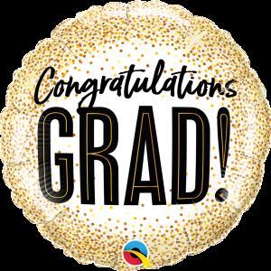 Globo Congratulations Grad Gold Dots