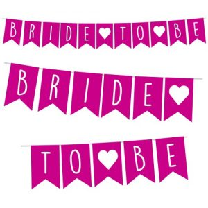 Bride to Be Pennant Banner Chico Rosa / Blanco