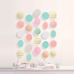 Confetti Fun Circle Decorations