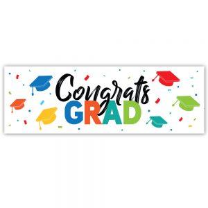 Congrats Grad Colors Banner