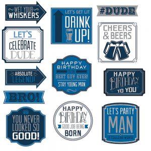 Happy Birthday Man Cutouts