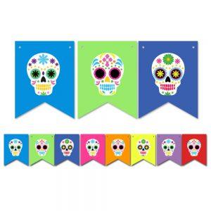 Skulls Día de Muertos – Pennant Banner