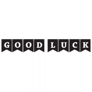 Good Luck Black & White – Pennant Banner