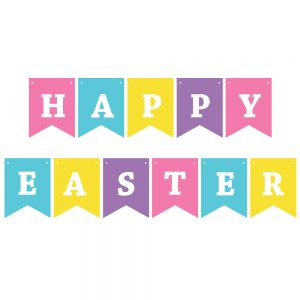 Happy Easter Pastel – Pennant Banner