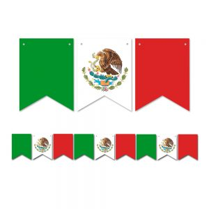Mexican Flag – Pennant Banner