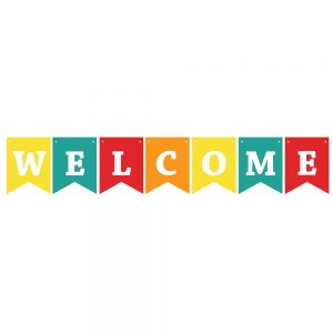 Welcome Assorted Colors – Pennant Banner