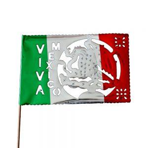 Bandera Decorativa Tricolor Metálica
