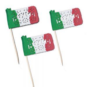 Banderitas Botaneras Tricolor