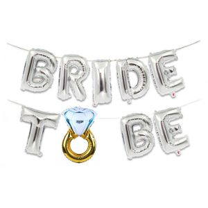 Letras Bride to Be Plata