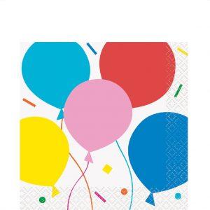 Colorful Balloons Servilleta Coctel