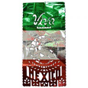 Estandarte Viva México Metálico