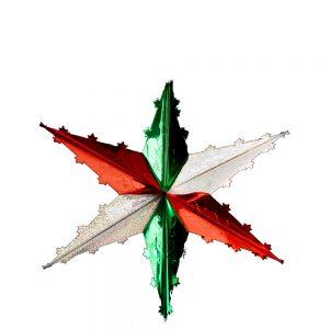Estrella Sencilla Tricolor Xs
