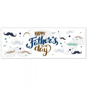 Father's Day Banner – Mustache