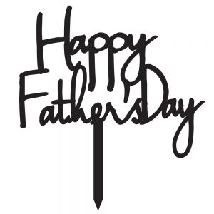 Cake Topper – Father's Day Elegant