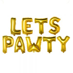 Letras Lets Pawty Oro