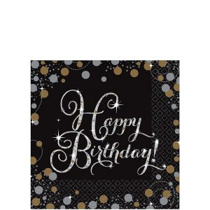 Sparkling Celebration Birthday Servilleta Coctel