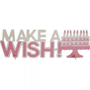 Pink Make a Wish Centro de Mesa