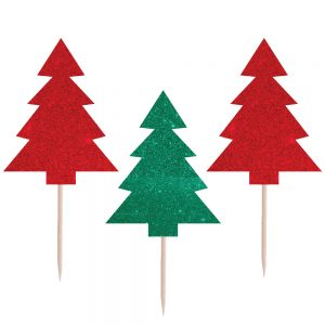 Christmas Tree Glitter Picks