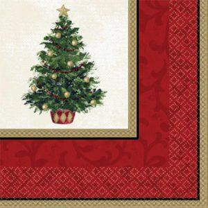 Classic Christmas Tree Servilleta Lunch