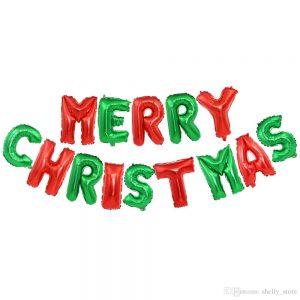 Merry Christmas Letras de Globo