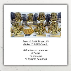 Año Nuevo Kit – Black and Gold Striped