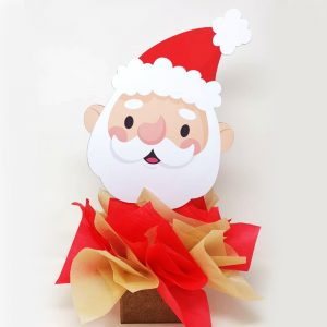 Centerpiece – Santa Face