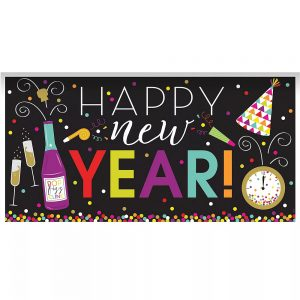 Banner Happy New Year Colorful