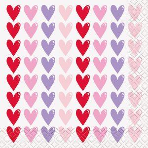 Sparkling Hearts – Servilleta Coctel