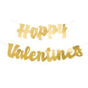 Happy Valentine`s – Letrero Dorado