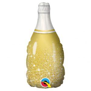 Globo Grande Botella Oro