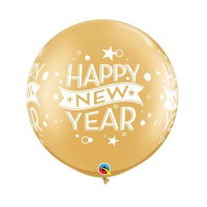 Globo Latex Gigante Happy New Year Oro