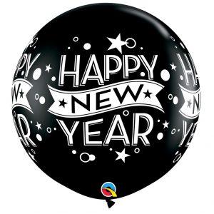 Globo Latex Gigante Happy New Year Negra